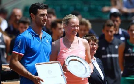Robert Farah y Anna Lena Groenefeld termina subcampeona del torneo de dobles mixtos de Roland Garros